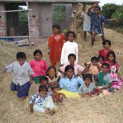 Photo of children in a Dalit village near Madurai, Tamil Nadu, India