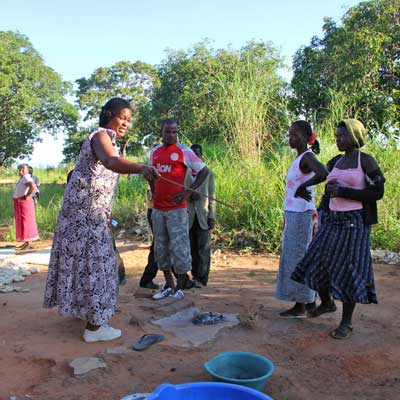 Inhabitants in a village in Malawi act to end open defecation
