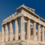 South-east view of Parthenon at Acropolis, Athens, Greece