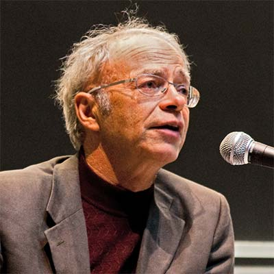 Peter Singer speaking at a Veritas Forum event on MIT's campus on Saturday, March 14, 2009.