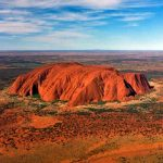 Photo of Uluru in Northern Territory, Australia, taken from a helicopter