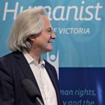 Photo taken of Professor A. C. Grayling at April 2017 CAHS Australian Humanist Convention in Melbourne.