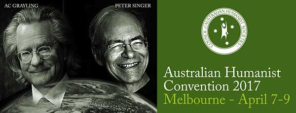 Council of Australian Humanist Societies Annual Convention 2017 banner