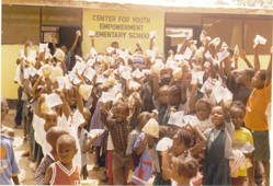 Photo of Liberian refugee children at Center for Youth Empowerment