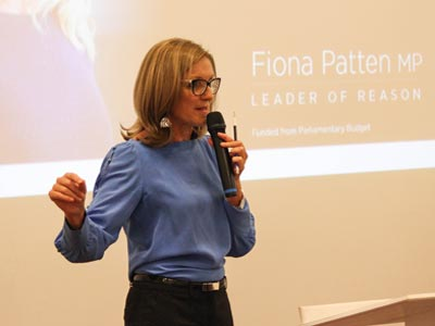 Photo taken at Humanist Society of Victoria Monthly Public Lecture on 28 March 2019 at Kew Seniors Centre - Fiona Patten (leader of Reason Party) on 'Secularism, Humanism and Political Engagement'