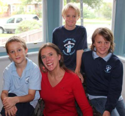 Photo of Sophie Aitken with her three sons
