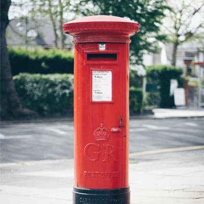 Photo of red post box
