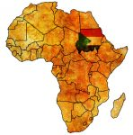 Map of Africa with Sudan highlighted
